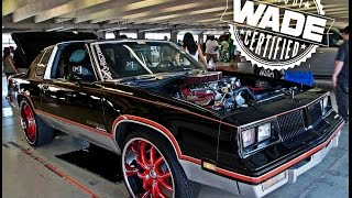 "Stuntfest 2k15 : Big Block Hurst Cutlass on 24"" Asanti Wheels"