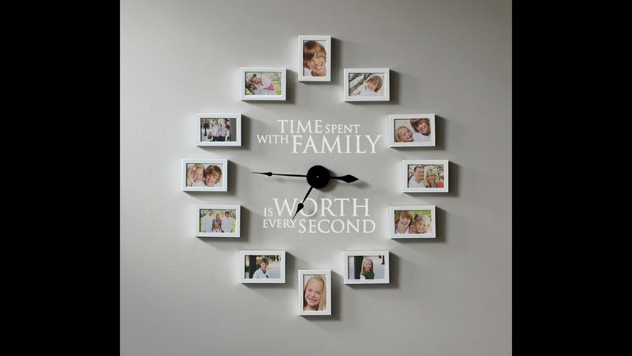 How to Create a Photo Frame Wall Clock - Time Spent with Family is ...