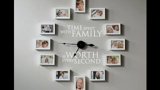 How to Create a Photo Frame Wall Clock - Time Spent with Family is Worth Every Second