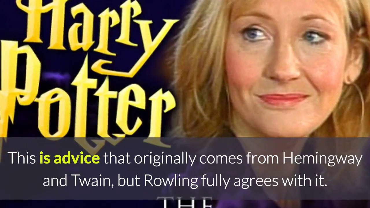 Great Lessons in Writing from JK Rowling
