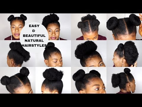 10 Very Easy Natural Hairstyles Short To Medium Length 4c
