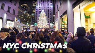 Christmas Walking NYC ✨5th Avenue, Rockefeller Center, Radio City Music Hall (December 2019)