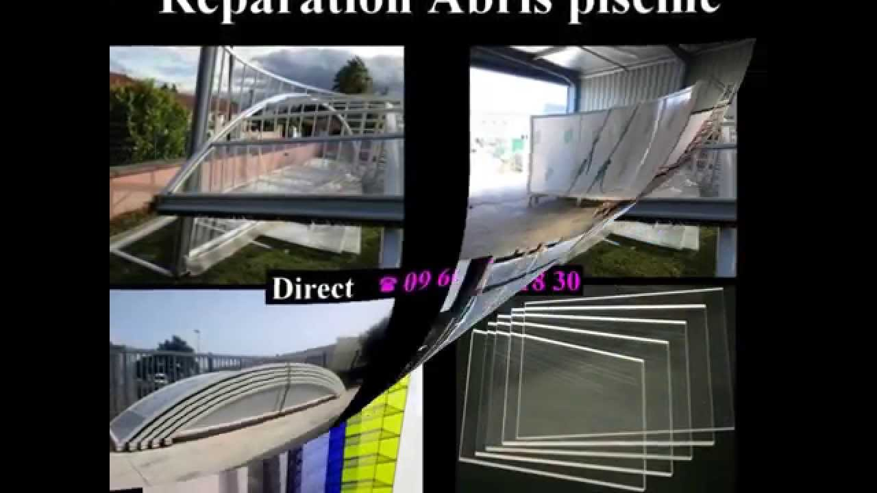 R paration abri piscine youtube for Reparation abri piscine