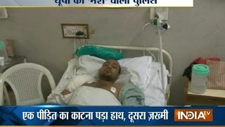 Drunk Policemen Fires Gun Shot At Two Men In Greater Noida   India Tv