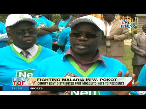 West Pokot county govt distributes free mosquito nets to residents