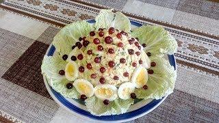 Простой но Очень Вкусный и Сытный Салат из Филе Курицы,Пекинской Капусты и Яблока !!!