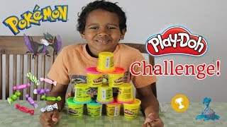 Play doh Challenge with Darnell | Pokemon | playdough