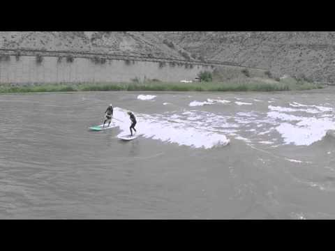 SUP River Surfing, Big Sur, 20,000 CFS, Colorado
