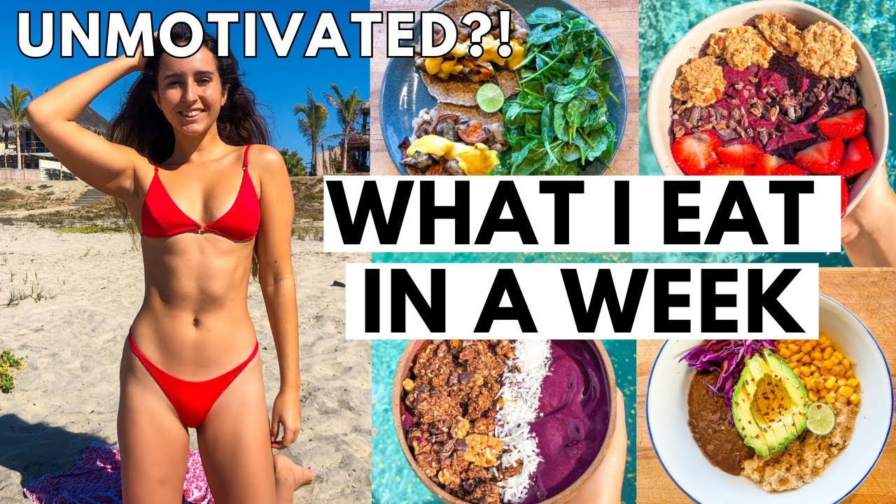 WHAT I EAT IN A WEEK When I Feel Unmotivated (realistic)