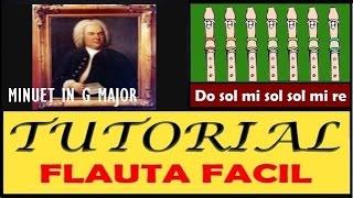 """Minuet en G mayor en Flauta """"Con Notas Explicadas"""""""