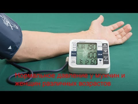 Нормальное кровяное давление у мужчин и женщин различных возрастов