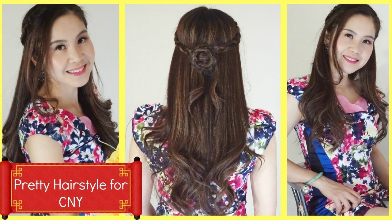 How To Beautiful Hairstyle Idea For Chinese New Year By Alisa Youtube