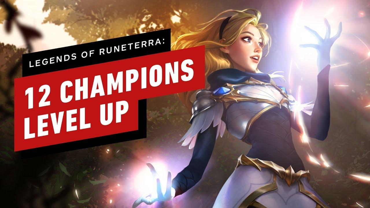 Mira a 12 campeones subir de nivel en Leyendas de Runeterra de Riot Games + vídeo
