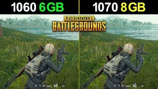 1060 vs 1070 - PUBG FPS Test (i5-8400)