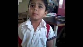 Cute answer to teacher for coming late with cute reason - by sweet Indian boy child