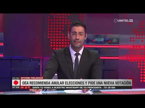 OEA recomienda anular las elecciones en Bolivia con nuevo Órgano Electoral