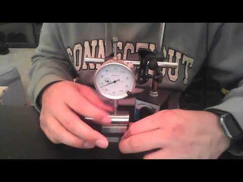 Using height gauge to measure circularity