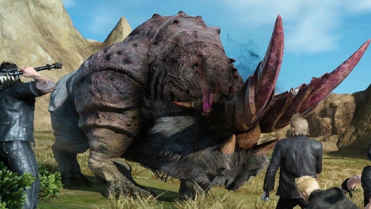 Final Fantasy 15 Bloodhorn Boss Fight 1080p 60fps YouTube