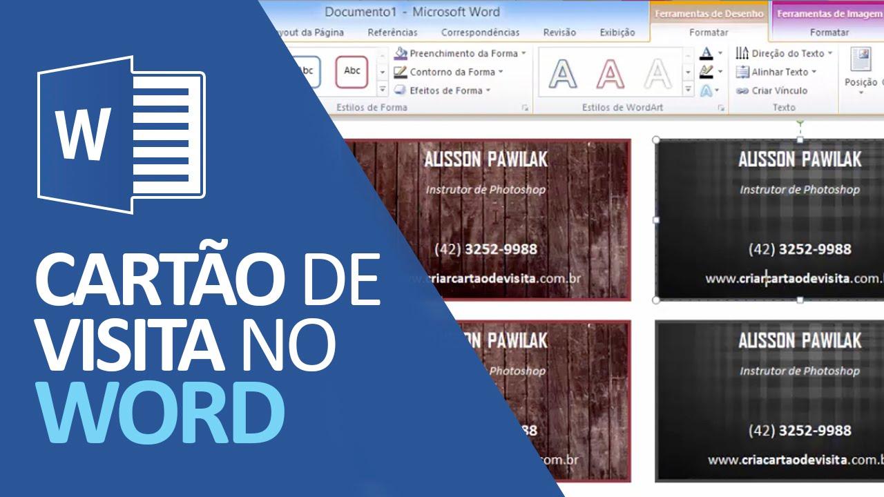 Fabuloso Como Criar Cartão de Visita no Word (Fácil e Profissional) - YouTube NS69
