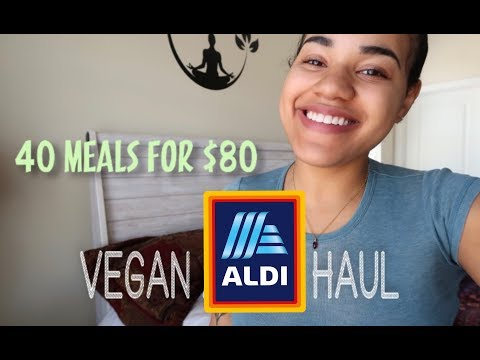 OVER 40 MEALS FOR $80! VEGAN ALDI'S HAUL + Vlogmas Launch Part II