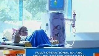 NTG: Mga dialysis machine sa NKTI, fully operational na