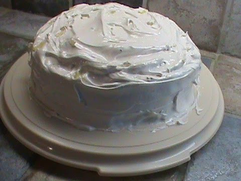 Egg White Icing On Pineapple Filled Cake Youtube