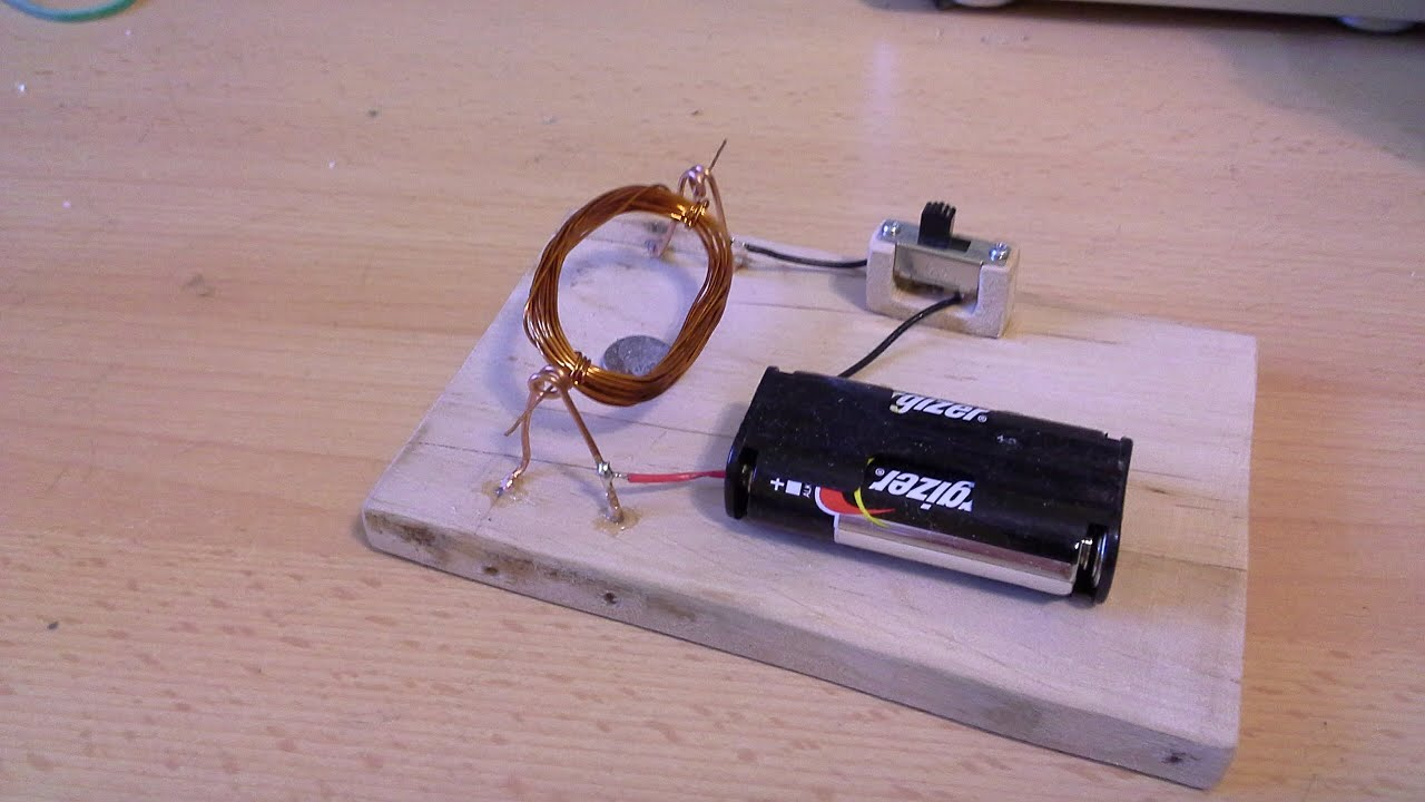 Jak zrobić prosty silnik elektryczny zasilany prądem   -> Kuchnie Kaflowe Jak Zbudować