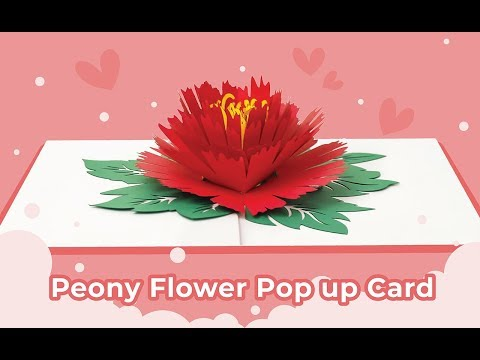Paper Love Peony Pop Up Greeting Card