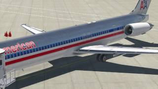 MD 80 Start,Taxi Takeoff Part 1  -      X Plane 11