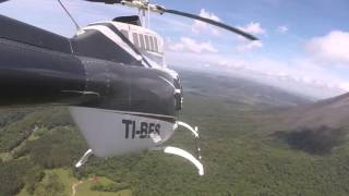 tour volcán arenal helijet air charter costa rica