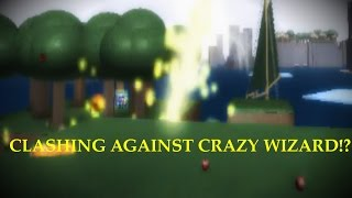 Clashing against a Crazy Wind Wizard | ROBLOX AA