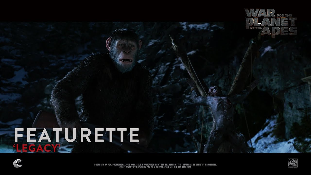 Download War For The Planet Of The Apes ['Legacy' Featurette in HD (1080p)]