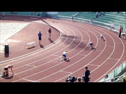 4x100m women relay Norway - Sweeden - Finland - Hyundai GP Oslo 2012