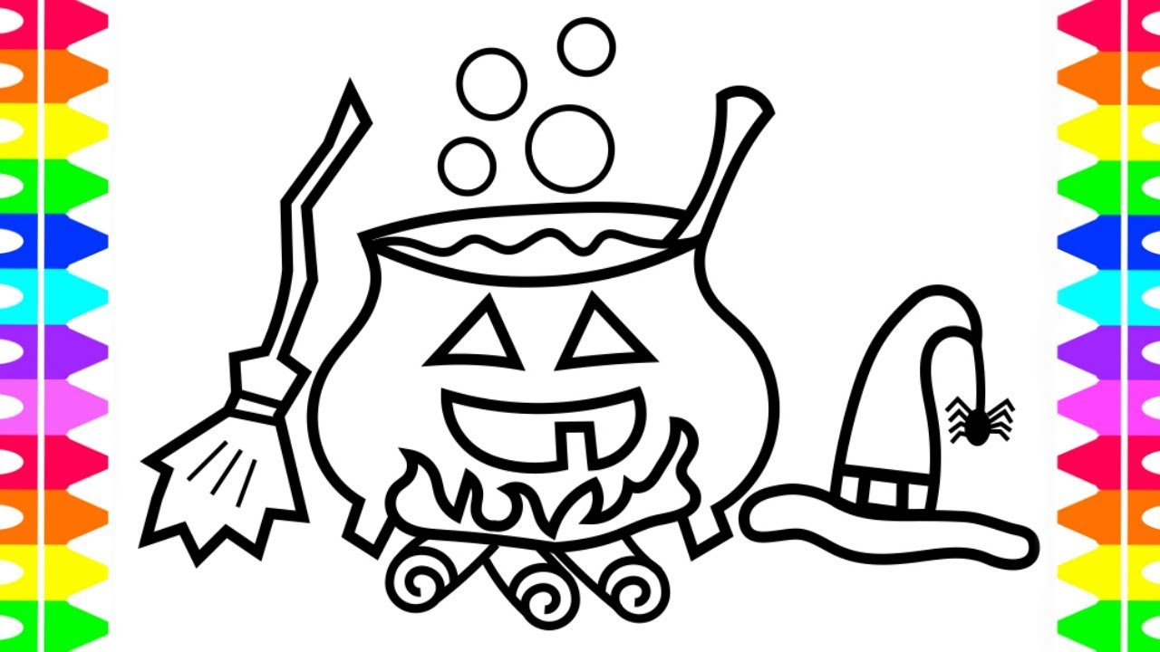 - HAPPY HALLOWEEN COLORING! Learning How To Draw Witches' Brew