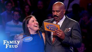INCREDIBLE Fast Money comeback!   Family Feud