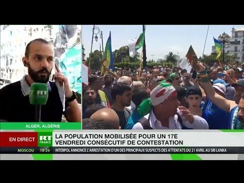 Algérie : 17e vendredi consécutif de manifestations contre le pouvoir en place