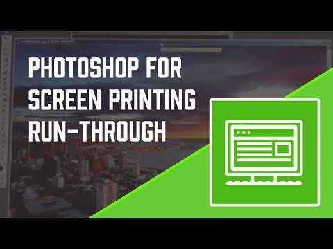 Photoshop Tutorial for Screen printers - Screen Printing 101 DVD pt 3