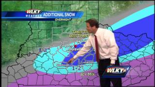 Early Monday forecast update: Snow diminishing toward dawn