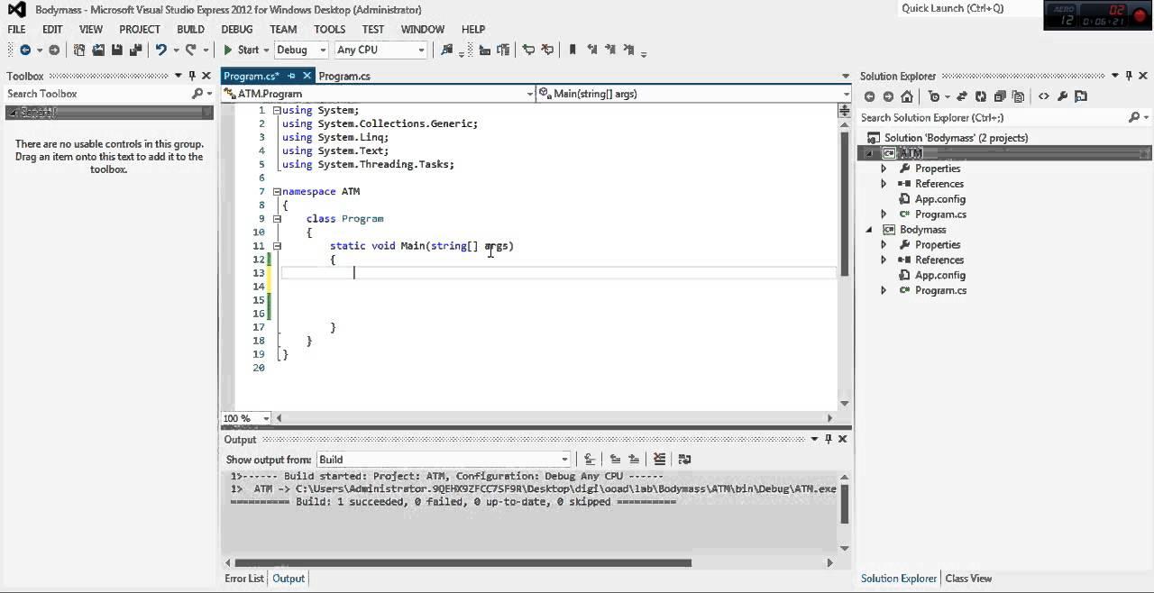 atm program using c#