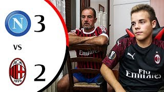 Assurdo... - NAPOLI 3-2 MILAN | LIVE REACTION GOL HD