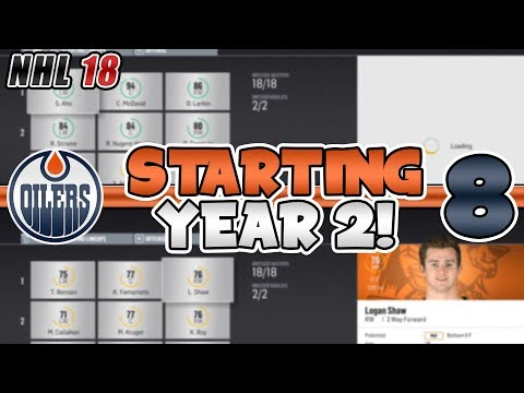 STARTING YEAR 2! SCARY TOP LINE! | NHL 18 Edmonton Oilers Franchise Mode Episode 8