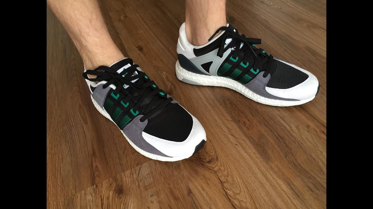 adidas EQT Support 93/16 BOOST in Black and White