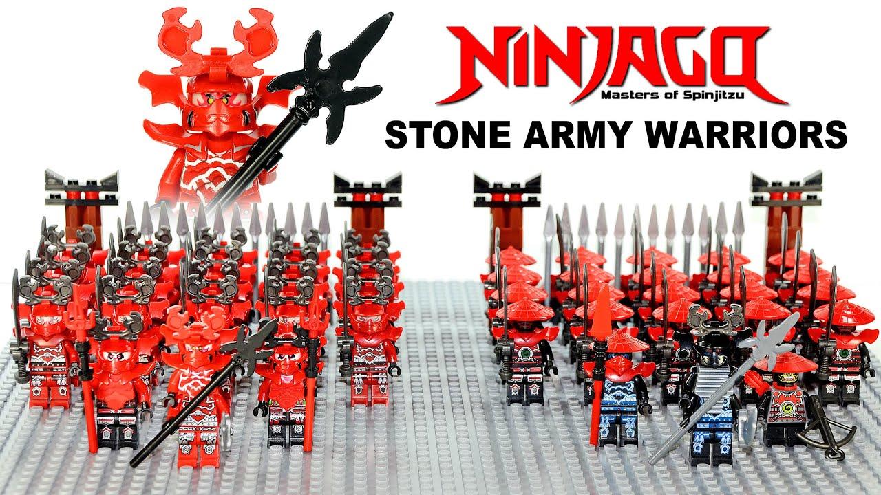 Lego Ninjago Stone Warriors Army Building W General Kozu Knockoff