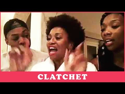 Jenifer Lewis, Brandy, & Todrick Hall Goofin Around