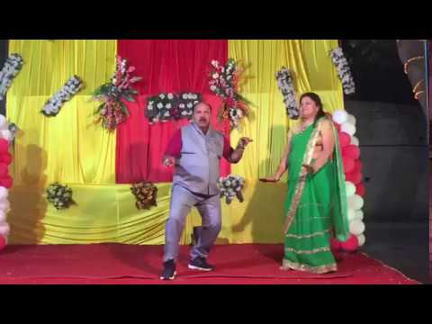 Uncle Rock Dance with Aunty in Marriage stage | Govinda  style And song.