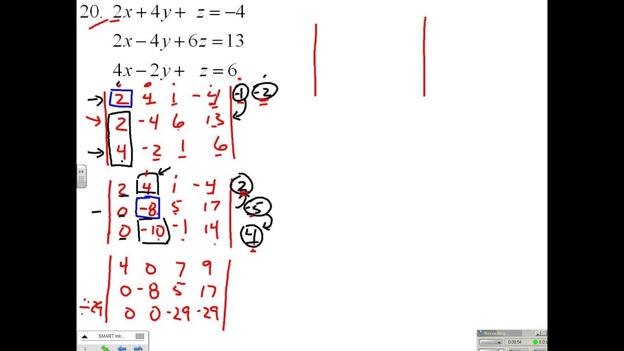 7 3 Gauss Jordan Elimination