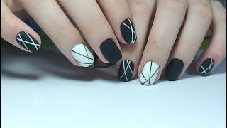 ❤ НЕ КАПРИЗНЫЕ черный и белый ГЕЛЬ ЛАК ❤ FIORE ❤ ЭКСПРЕСС дизайн ❤ МИНИМАЛИЗМ на ногтях ❤