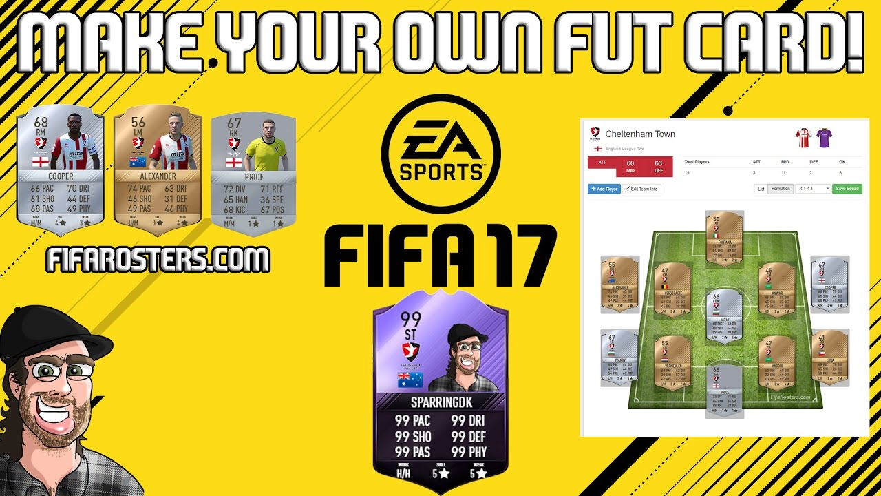 how to create your own fut card with fifarosters com youtube. Black Bedroom Furniture Sets. Home Design Ideas