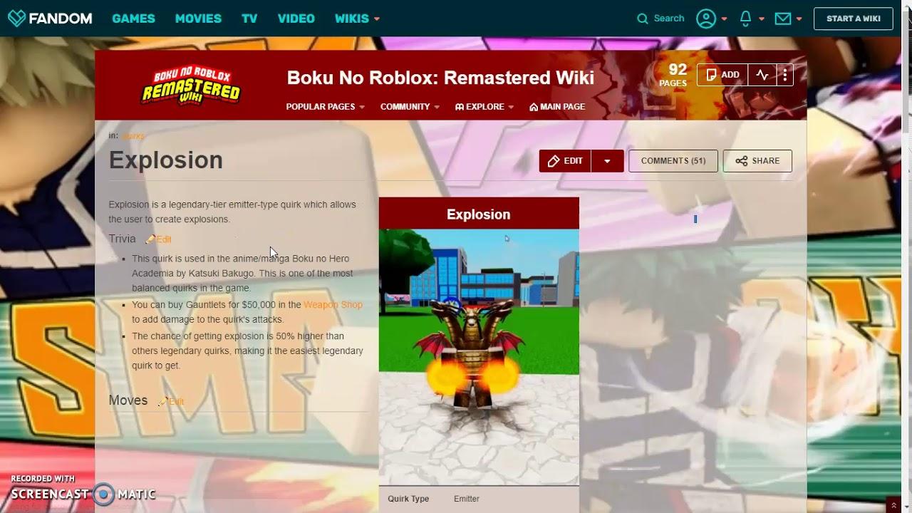 Boku No Roblox Quirk Tier List