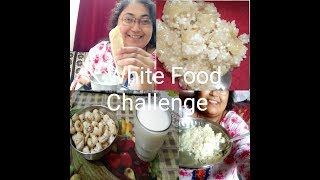 i only ate only white food for 24 hours white food challenge only home made food